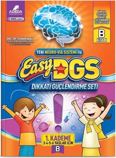 Morhipo kitap Easy DGS Dikkati Güçlendirme Seti 1. Kademe B Kitapçığı (3 - 6 Yaş) Renkli